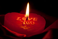 Heart candle Stock Photo