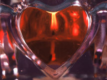 Heart Candle Stock Images