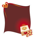 Heart and candle. Beautiful background for your valentine's banner Stock Photo