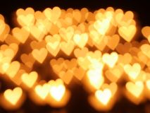 Heart candle bokeh Royalty Free Stock Images