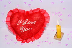 Heart and candle royalty free stock photos