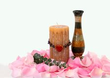 Heart Candle and Vase Royalty Free Stock Photography