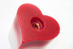 Heart candle Royalty Free Stock Photography
