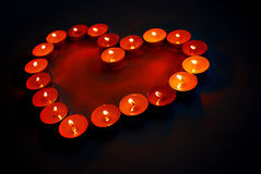 Heart of candles Stock Photo
