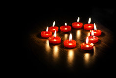 Heart from candles Stock Photography
