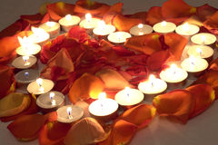 Heart candles Stock Photos
