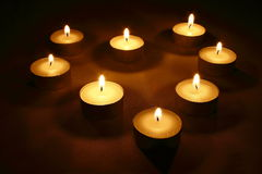 Heart from candles Royalty Free Stock Photo