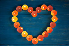 The heart of the candles Royalty Free Stock Images