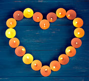 The heart of the candles Stock Images