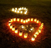 Heart candles Royalty Free Stock Image