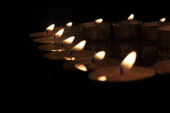 Heart of candles Royalty Free Stock Photos