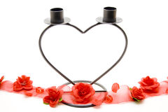 Heart candles stand Royalty Free Stock Images