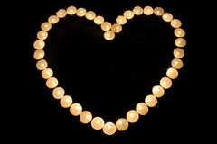 Heart candlestick3 Royalty Free Stock Images