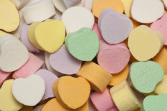 Heart Candy. A collection of candy hearts for Valentine's Day Stock Photos