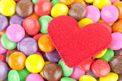 Heart and candy Royalty Free Stock Photo