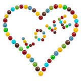A heart of candy Royalty Free Stock Images
