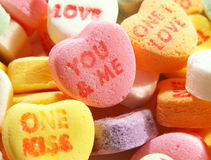 Heart candy. Candy conversation hearts stock image