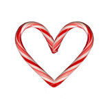 Heart Candy Cane. Heart shaped candy cane royalty free stock photo