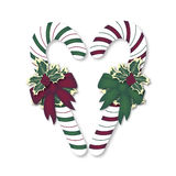 Heart Candy Canes Stock Images