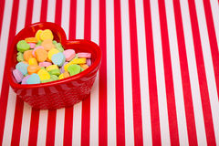 Heart Candy Dish Left Striped Stock Photo