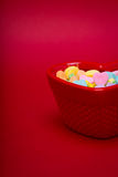 Heart Candy Dish Right Side Royalty Free Stock Photography