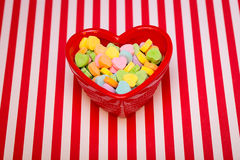 Heart Candy Dish Striped Stock Photography