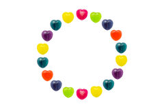 Heart Candy Set in Circle Shape for Valentine Stock Image