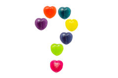 Heart Candy Set in Question Mark Shape for Valentine Royalty Free Stock Image