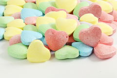 Heart candy Valentine Background in white background. Love and valentine related stock photography