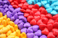 Heart candy3. Lots of little heart shapped candies Stock Photos
