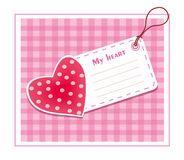 Heart card Royalty Free Stock Image