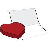 Heart and card Stock Photos