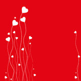 Heart Card Background. Valentine's Day card with many hearts Stock Images