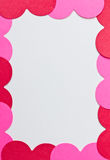 Heart card border Royalty Free Stock Images