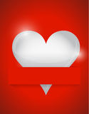 Heart card illustration design Stock Photography
