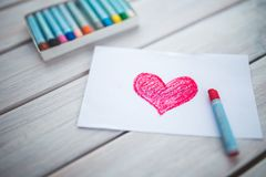 Heart, Card, Pastels, Figure Royalty Free Stock Image
