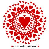 Heart card suit pattern Stock Image