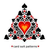 Heart card suit snowflake Stock Photo