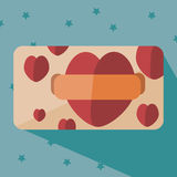 Heart card. Card to the Valentine's Day Royalty Free Stock Photo