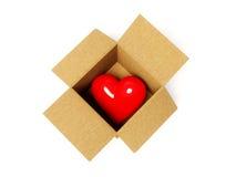 Heart in cardboard Stock Photo