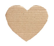 Heart from a cardboard. Stock Photos