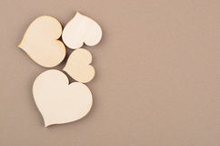 Heart on cardboard background Royalty Free Stock Photo