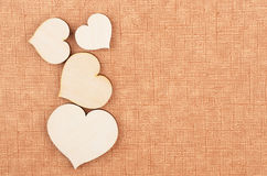 Heart on cardboard background Royalty Free Stock Photography