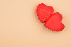 Heart on cardboard background Stock Image