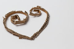 Heart from cardboard cuttings Royalty Free Stock Photography