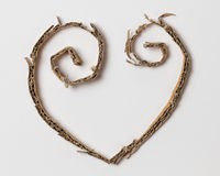 Heart from cardboard cuttings Royalty Free Stock Photos