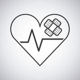 Heart cardio icon Stock Images