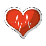 Heart cardio isolated icon Royalty Free Stock Images