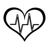 Heart cardio isolated icon Stock Image