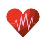 Heart cardio isolated icon Royalty Free Stock Photos